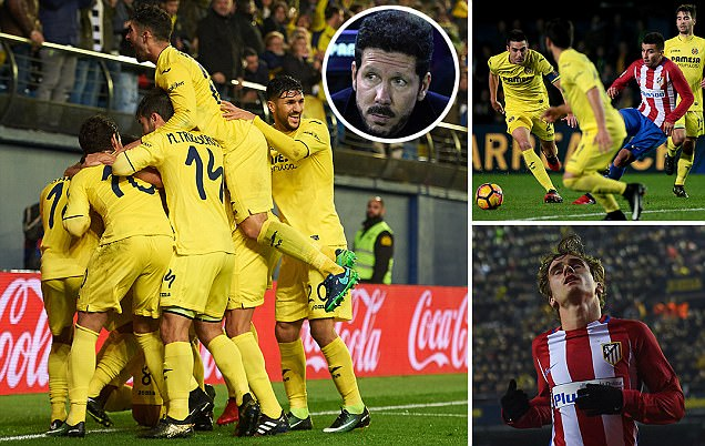 Villarreal 3-0 Atletico Madrid: Woe for Diego Simeone's men as they fall to sixth in La