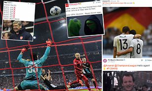 Arsenal face Bayern Munich AGAIN and Twitter has a field day... the best UCL draw memes