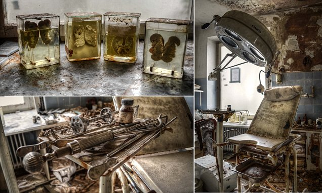 German doctor's vacant home and surgery is filled with creepy surgical implements