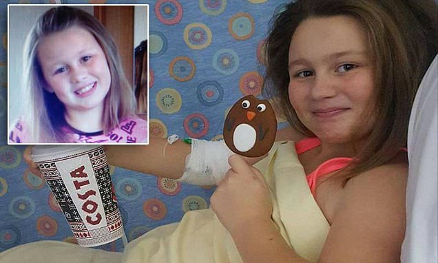Girl, 12, sent home from Welsh school with 'sick bug' has 5% chance of survival