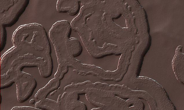 NASA reveals images of 'coolest landscape on Mars' at the red planet's frozen South Pole
