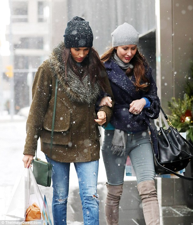 Meghan Markle was spotted out shopping with a friend believed to be Jessica Mulroney, daughter-in-law of former Canadian prime minister Brian Mulroney, in Toronto on Sunday