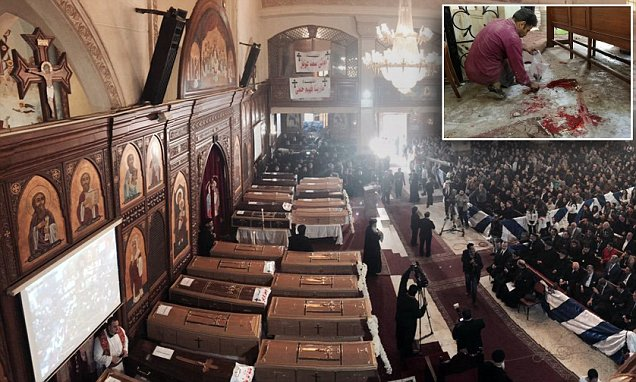 Christians under siege: Funeral for 24 worshippers slaughtered by Islamist suicide bomber