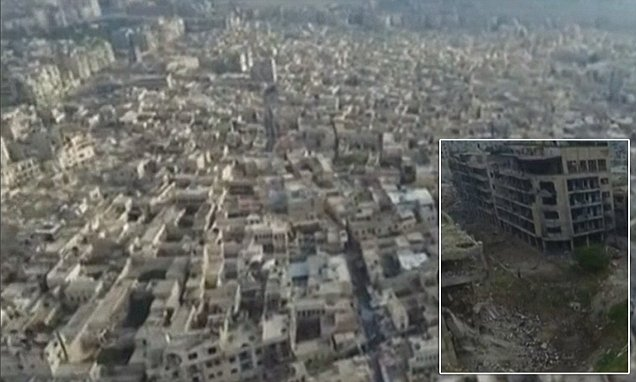 Aleppo drone footage reveals the devastation of the Old City