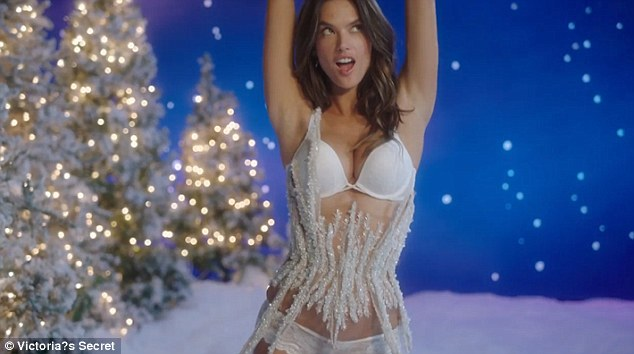 Wow! Leading the pack was Alessandra Ambrosio, who has enjoyed over a decade as a frontwoman for the brand, as she sizzled in an icicle-inspired waspie