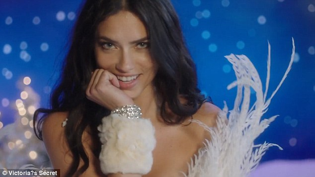 Stalwart: Alessandra was joined by equally-sexy Adriana Lima - who has represented the brand for 17 years
