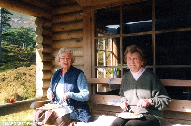 The Queen and her first cousin enjoy lunch at Glen Beg, Her Majesty's log cabin on the Balmoral estate in Scotland