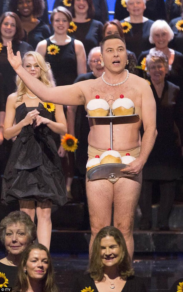 What a tea-se! David Walliams really acted the part when he joined the Women's Institute for the Royal Variety Performance 2016 on Tuesday