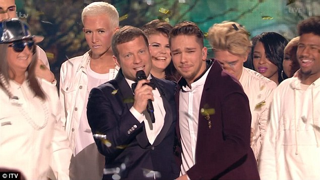 Bromance in the air? Matt was then dragged away from the rest of his co-stars by the show's host Dermot O Leary, to express his reaction to winning the X Factor crown