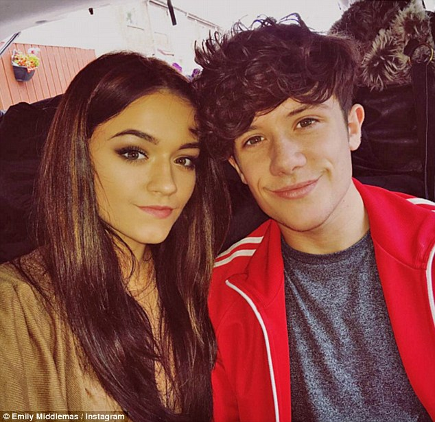 No secret: Emily Middlemas and Ryan Lawrie have been very open about their romance behind the scenes of The X Factor