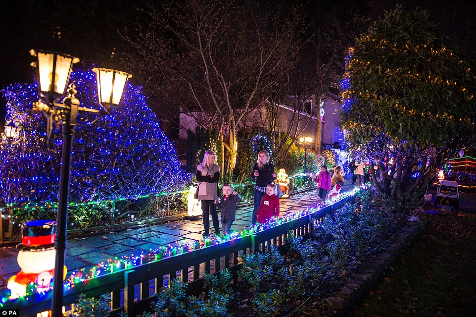 It takes the couple 12 weeks to decorate their home -  but the results are spectacular and it attracts hundreds of visitors