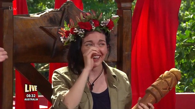 Happy days! She was crown Queen of the Jungle after winning I'm A Celebrity... Get Me Out Of Here earlier this month
