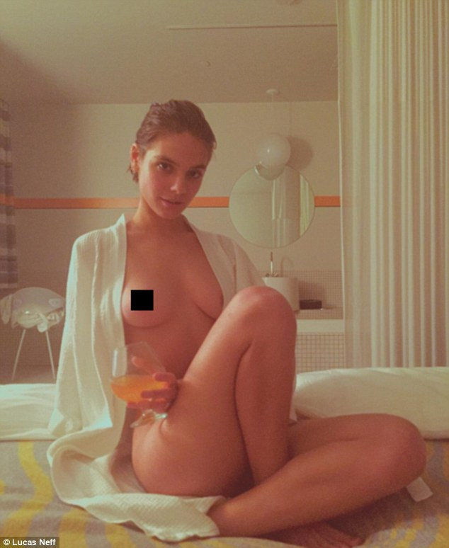 Freeing the nipple! Caitlin Stasey posted another topless picture of herself to Instagram in October