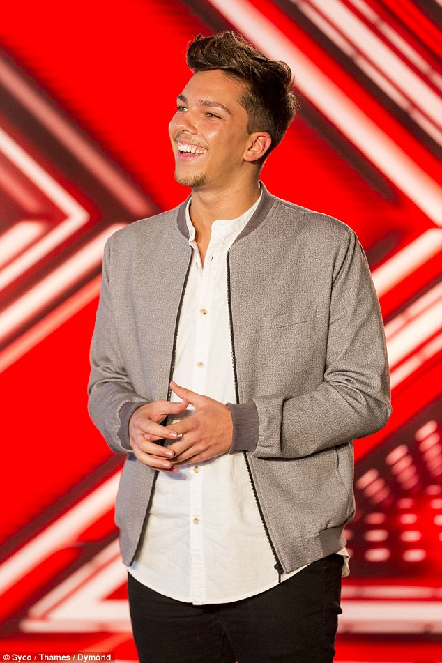 Healing the pain: Matt had been spurred on to audition for the X Factor after his girlfriend of three years Jasmine Avis dumped him, two days before his birthday