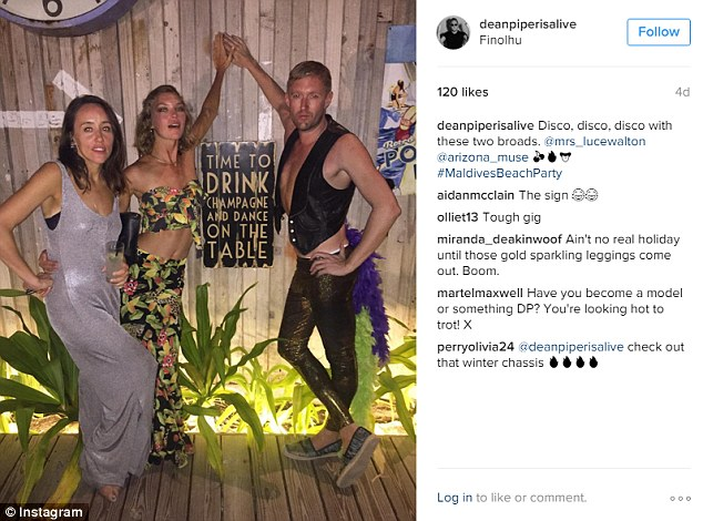 He also posted some of the disco outfits the group donned during the week's parties