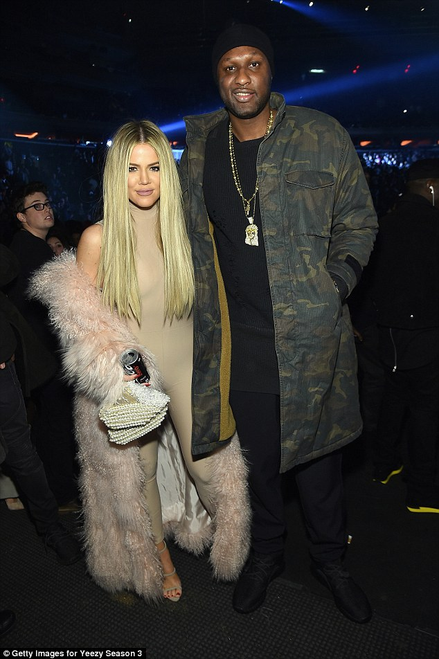 Tough time: On Friday, a Los Angeles judge signed off his divorce to Khloe Kardashian. They (pictured February during his recovery) will be officially single when the paperwork goes through on the 17th of this month