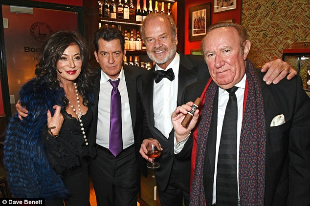 A who's who of the star world: Frolicking about on Monday evening the group appeared to be thoroughly enjoying the fourth annual event, held at London's Boisdale of Canary Wharf