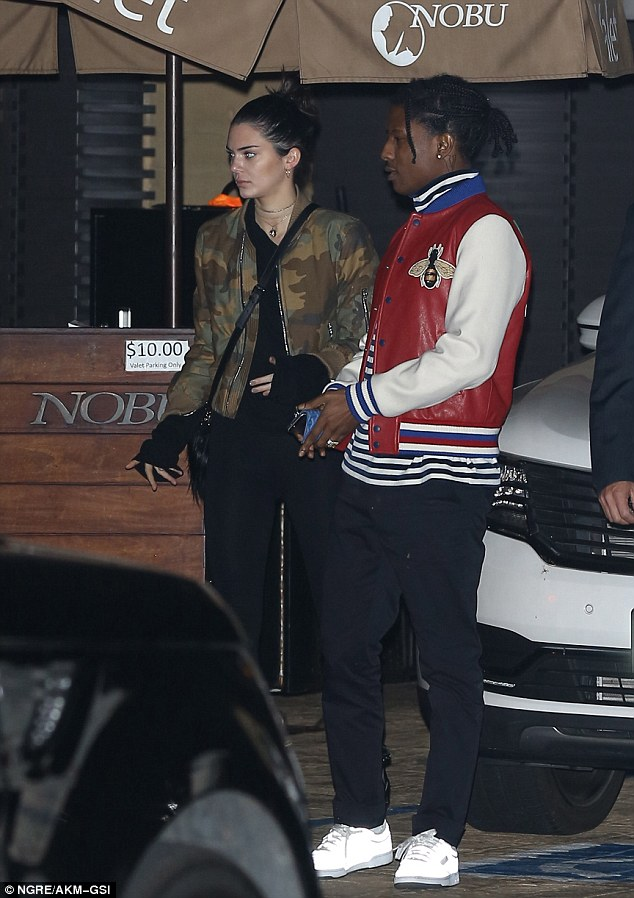 The other man: She had a sizzling sushi date at Nobu Malibu with 28-year-old rapper A$AP Rocky on Sunday evening