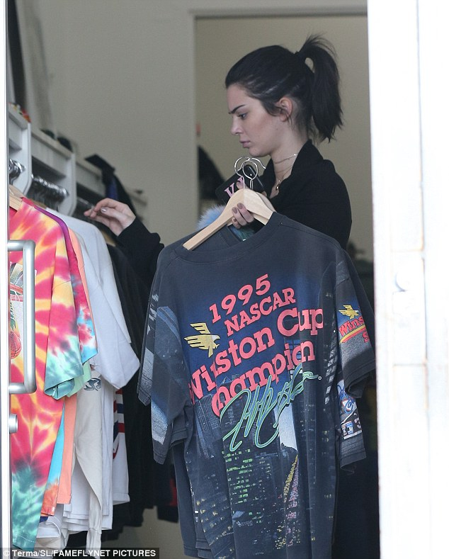 For A$AP? In the store she looked at a 1995 Winston Cup Champion Nascar men's shirt