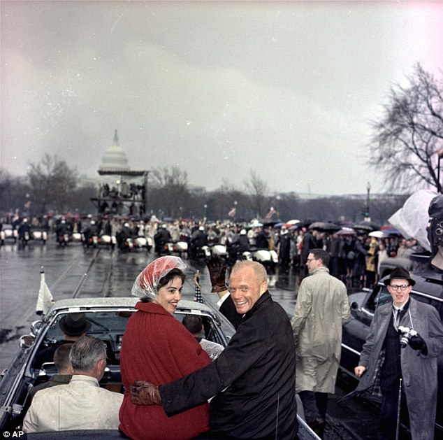 Glenn and his wife Annie (above on February 26, 1962 during a parade in his honor) met as toddlers and were married for 73 years at the time of his death