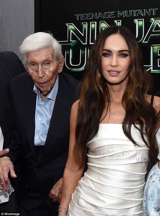 Redsone's lawsuit claims that on May 19, 2014, the women convinced Redstone (pictured with Megan Fox in 2014) to sell his vested stocks and then had him deposit $45million into each of their bank accounts