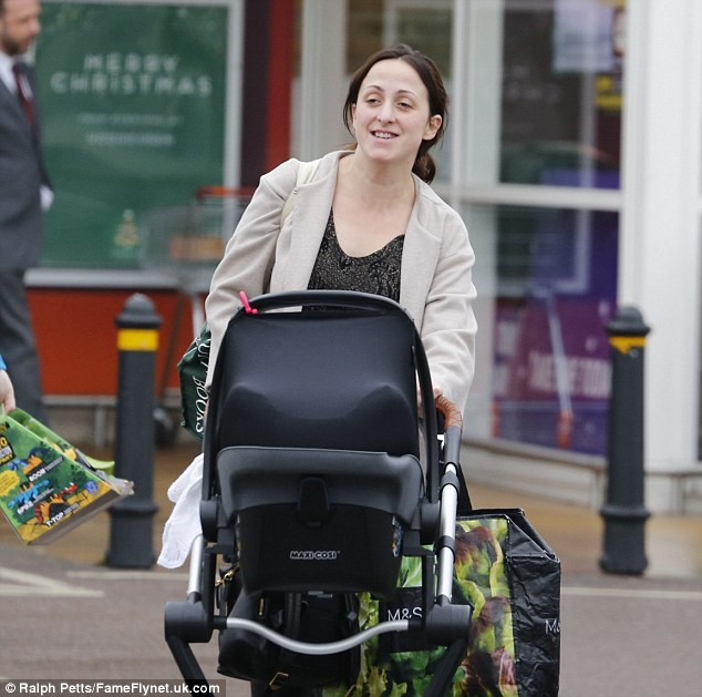 Out and about: Natalie Cassidy looks a far cry from a tired mum of two as she headed to the shops in London this week