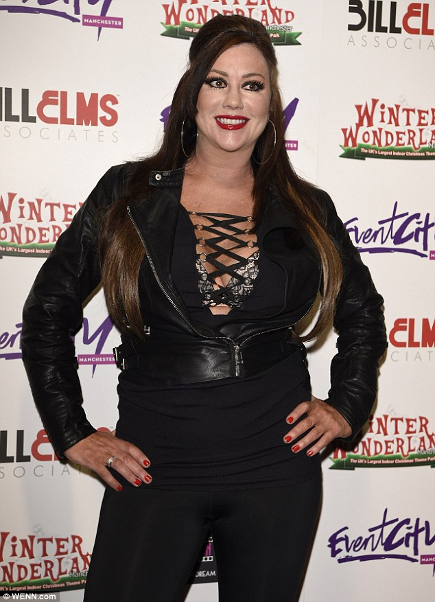 Making a statement: Lisa Appleton also attended the event in a much racier ensemble which flashed ample amounts of her plentiful cleavage