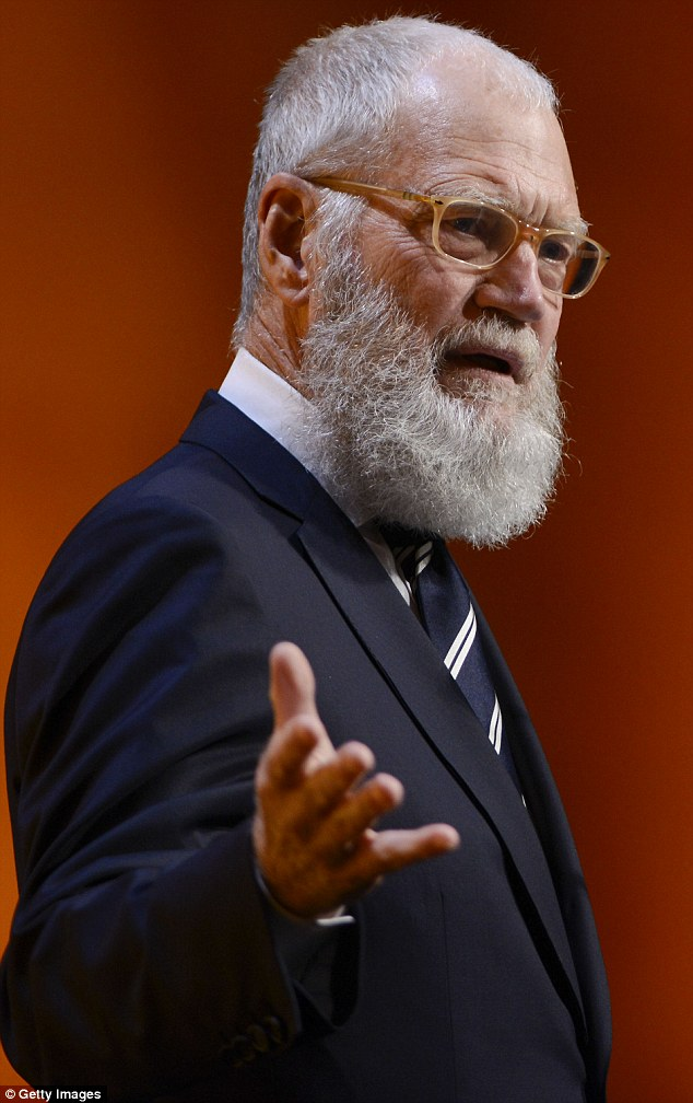 Doing his bit for charity: David Letterman, seen at a fundraiser for Washington D.C.'s Lab School last month, spent the weekend helping to build a house for Habitat For Humanity