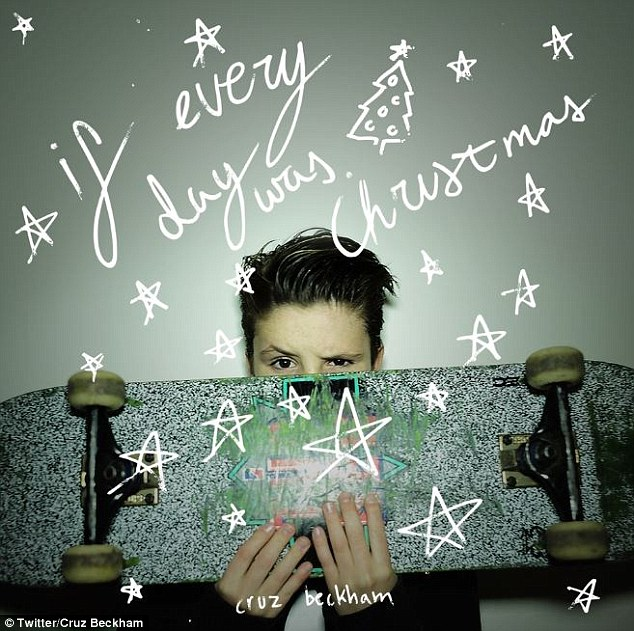 Rise to fame: The music video was shot for his debut single If Everyday Was Christmas, which was released on Wednesday