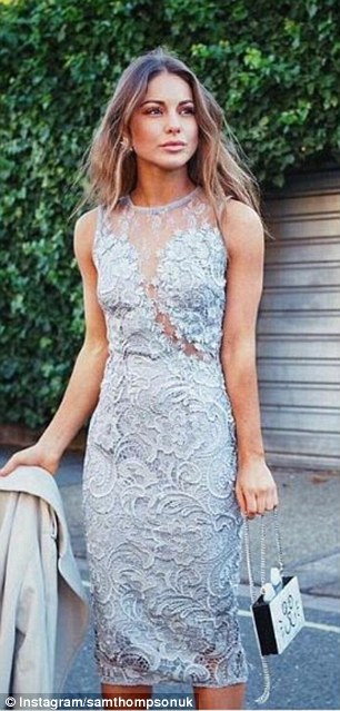 Who wore it better? Louise Thompson, 26, shared a stunning shot clad in a lace grey dress last week
