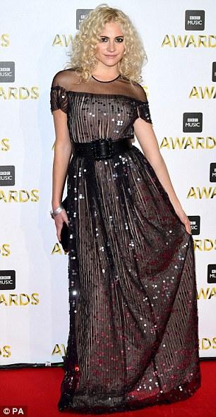 Mistletoe and shine!Pixie Lott and Fearne Cotton both seemed to be in the Christmas spirit on Monday night as they headed to the BBC Music Awards in matching sequin gowns