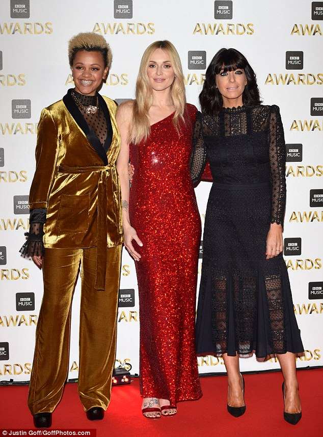 Exciting night:Taking place at ExCel London, the BBC Music Awards, hosted by Gemma Cairney, Fearne and Claudia (L-R) celebrates the best in popular music from the last 12 months