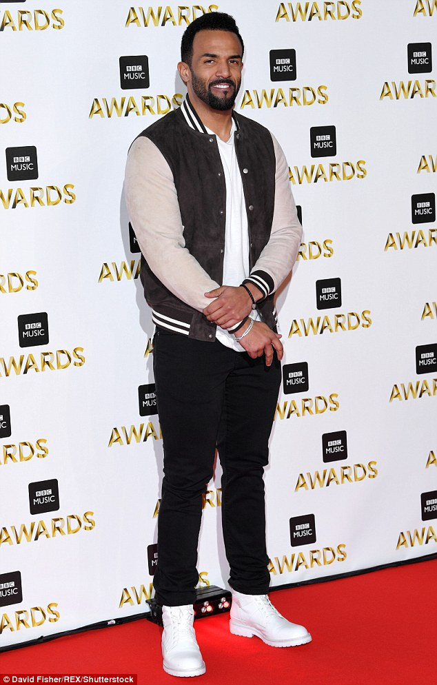 Trendy:Doing it for the boys at the bash however was a typically cool Craig David, who is up for nomination in the Radio 1 Live Lounge Performance of the Year category
