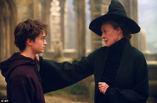 Boy wizard:Harry Potter fans watched him grow up on screen from the boy wizard to the man wizard