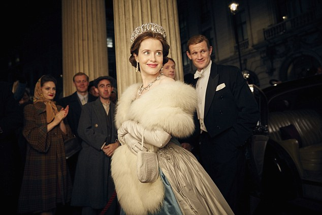 Royally good: The Crown garnered three nominations. Claire Foy (above) who plays Queen Elizabeth II, is up for Best Actress in Television Series while the show is up for Best TV Drama
