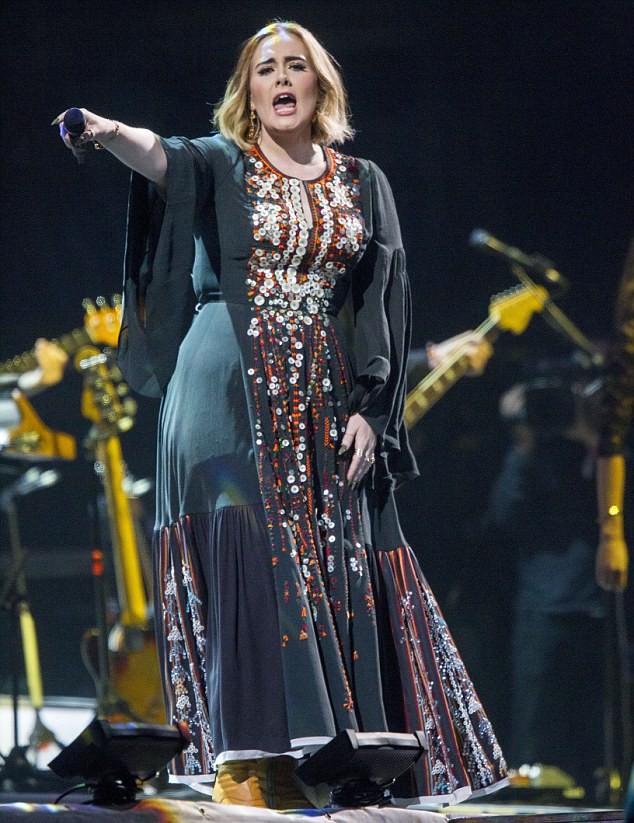 Popular: Adele is taking a break before her Adele Live Tour moves on to Australia and New Zealand, where she will perform a run of 11 shows, starting in Perth on February 28