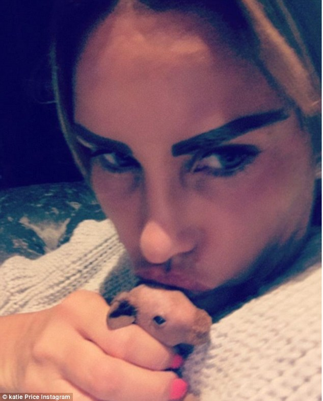Makeover:Katie Price showed off the results of her latest cosmetic enhancements on her Instagram page on Thursday, revealing she's had her lips and eyebrows tattooed