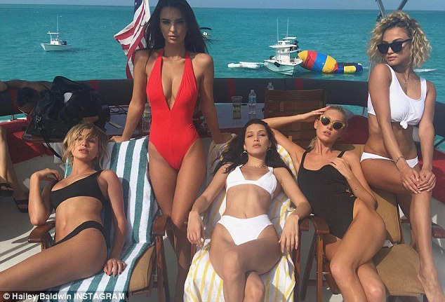 'Work is tough' Hailey Baldwin, Emily, Bella Hadid, Elsa Hosk and Rose Bertram laidback for a fun Instagram snap