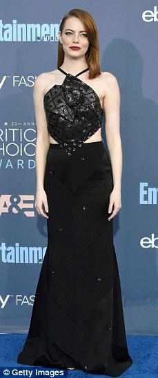 Monochrome mavens: Nicole Kidman, Amy Adams, Emma Stone and Kate Beckinsale made their mark on the red carpet at the Critics' Choice Awards on Sunday