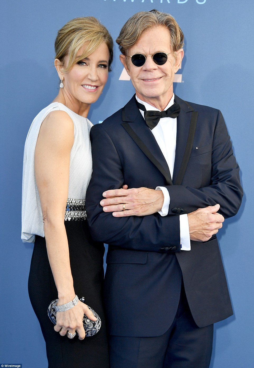 Coordinated couple: Huffman was joined by husband William H. Macy