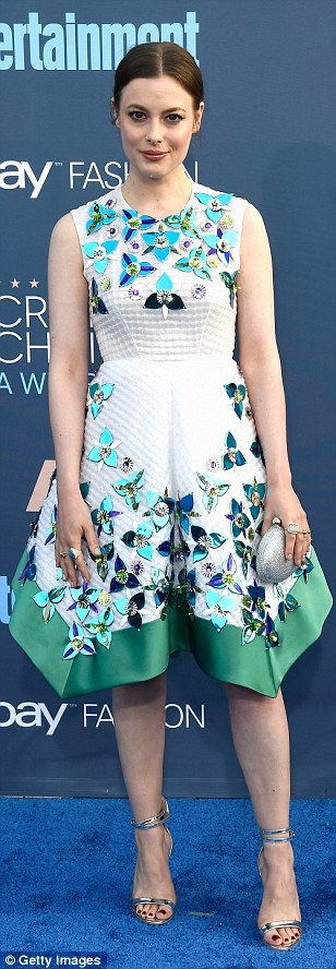 Got the memo: Gillian Jacobs (wearing Delpozo), Constance Wu and Julie Bowan were on the same page with their floral motif white dresses