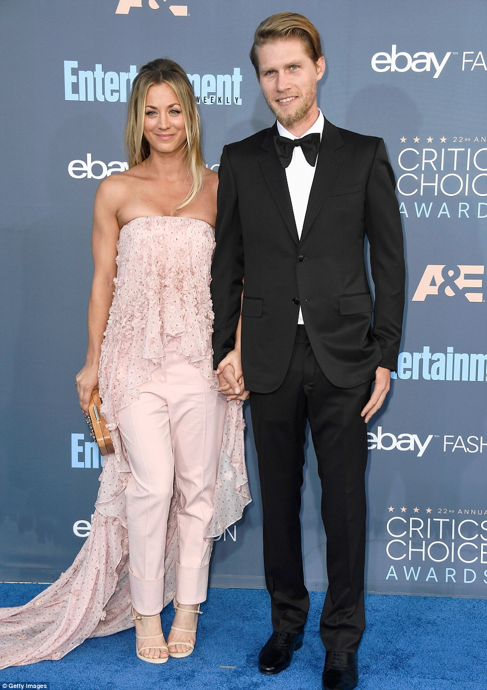 Hand-in-hand: The actress arrived with her boyfriend Karl Cook