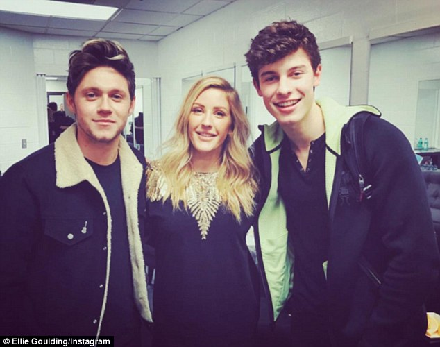 Just pals! Having remained friends after their brief romance in 2014 it was no surprise to see Ellie Goulding flashing a delighted grin as she cosied up to One Direction star Niall Horan
