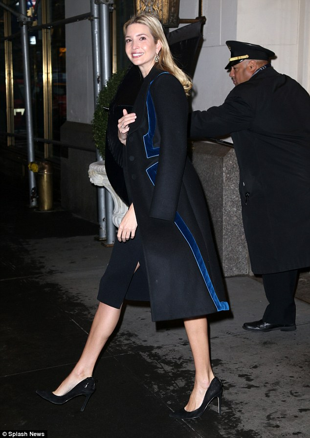 Happier than ever? Ivanka Trump flashed a grin when she stepped outside of her Park Avenue apartment on Monday morning
