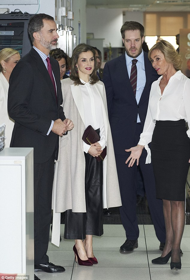 The chic royal arrived at the Zeta group offices in the Spanish capital to celebrate the 40th anniversary of the media company