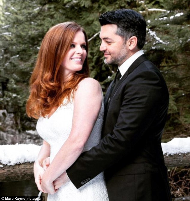They said I do: Rebecca Mader has married her longtime beau Marcus Kayne, she revealed on Monday