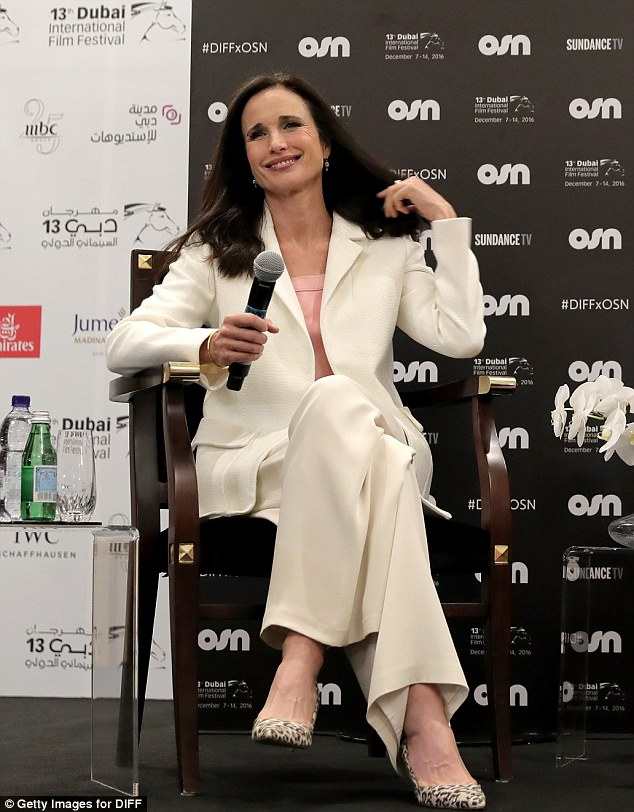 Timeless beauty: The talented actress smiled as she took questions from the crowd