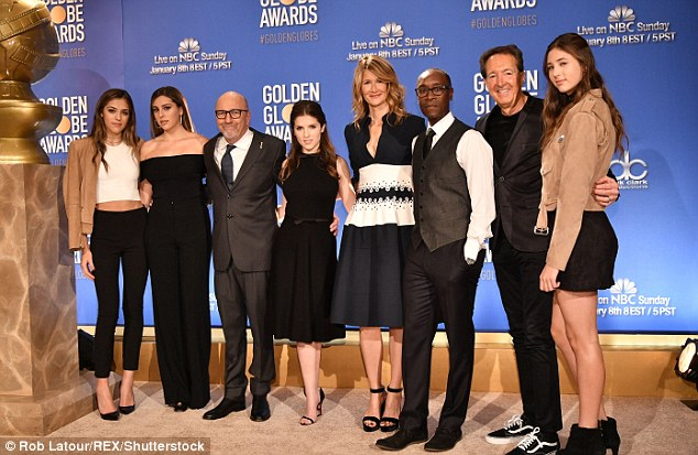 Time honored tradition:The organization usually invites the offspring of a celebrity to aid presenters on stage