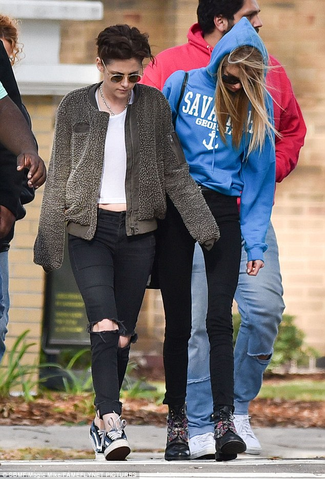 Sightseeing: The two fueled romance rumours as they spent quality time together walking the antebellum streets of the coastal town and chatting during filming breaks at the weekend
