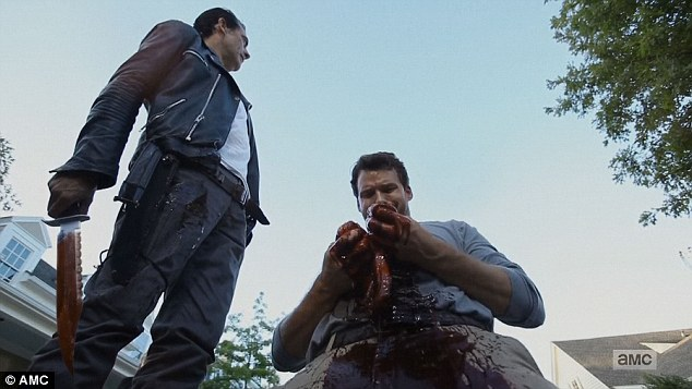 No guts: Negan told Spencer that he didn't have any guts before disemboweling him